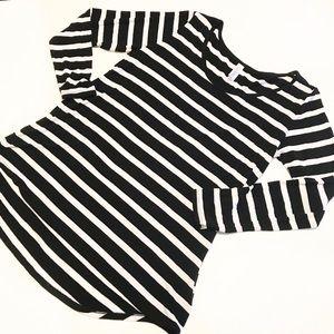 Lularoe Lynnae Striped Long Sleeve Top Sz S